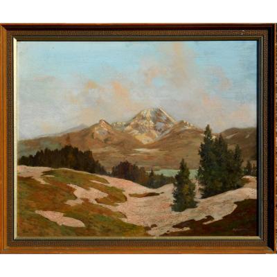 Hanns KOBINGER (1892-1974) GRUNDLSEE-AUTRICHE -LINZ - VIENNE -HSP 48x58cm