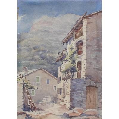 Louis Floutier (1882-1936) Basque Country - Bearn (béarn) Aq 26x18cm