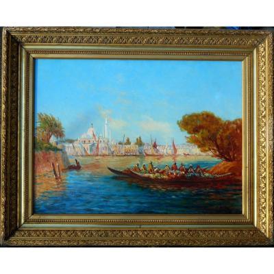 Joseph Odde (oddé) XIX-xx- Istanbul- Bosphorus - Turkey - Hst 48x65cm Marseille