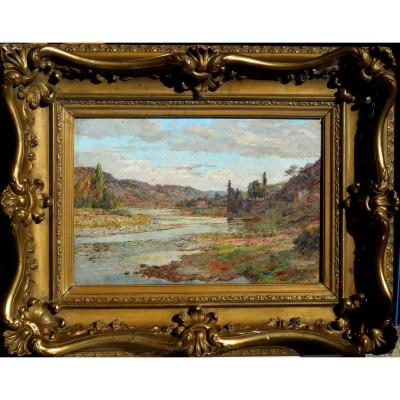 Riverside Hst 24x35cm Signed Dated 1920