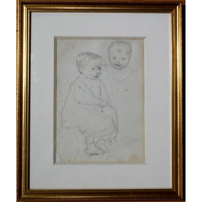 Jean GEOFFROY (1853-1924) dit GEO (Géo) - etude au crayon