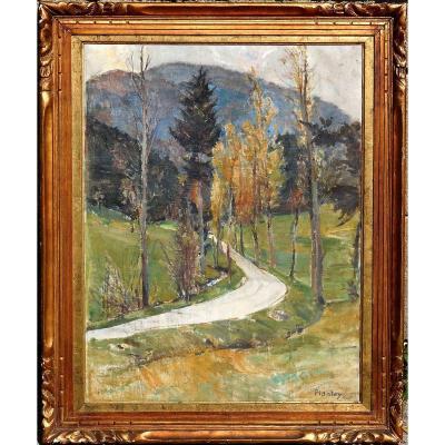 Robert Gilles PLANTEY (1881-1974) HST 77x58cm