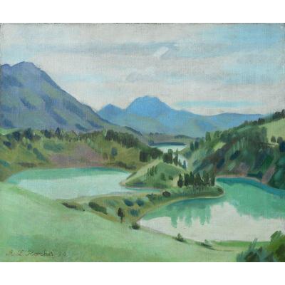 Alexis Louis Roche (geneva 1891/1961) Switzerland - Lac Montsalvens 1930 - Gruyères - Friborg