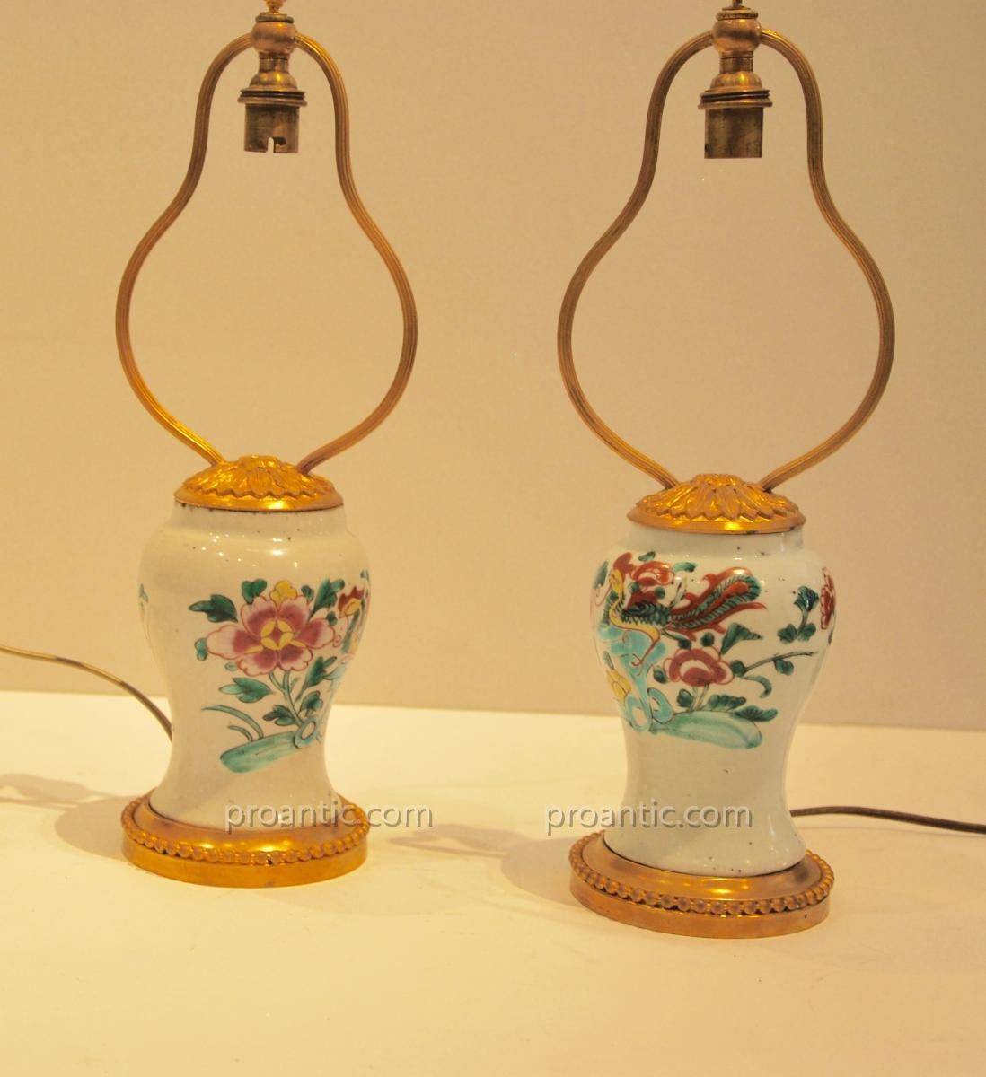 Pair Of Lamps Late 18th