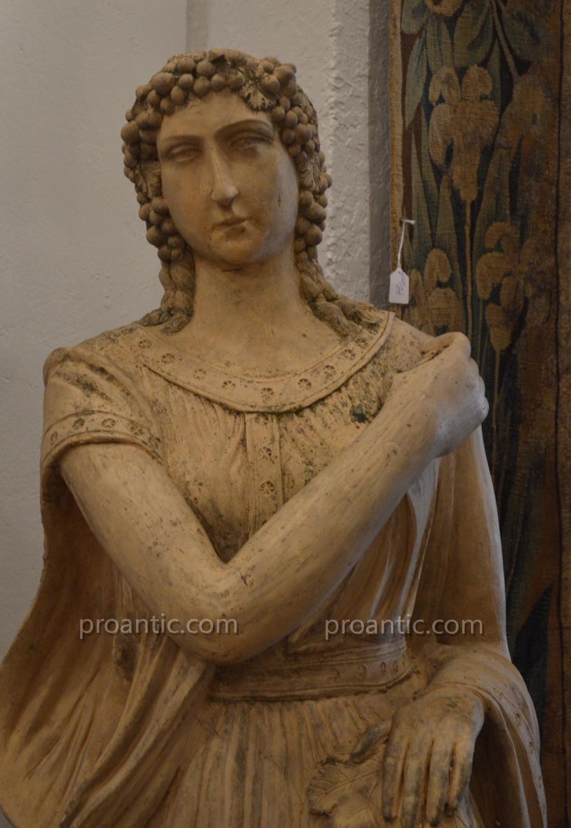Statue En Terre Cuite Fin 18ème