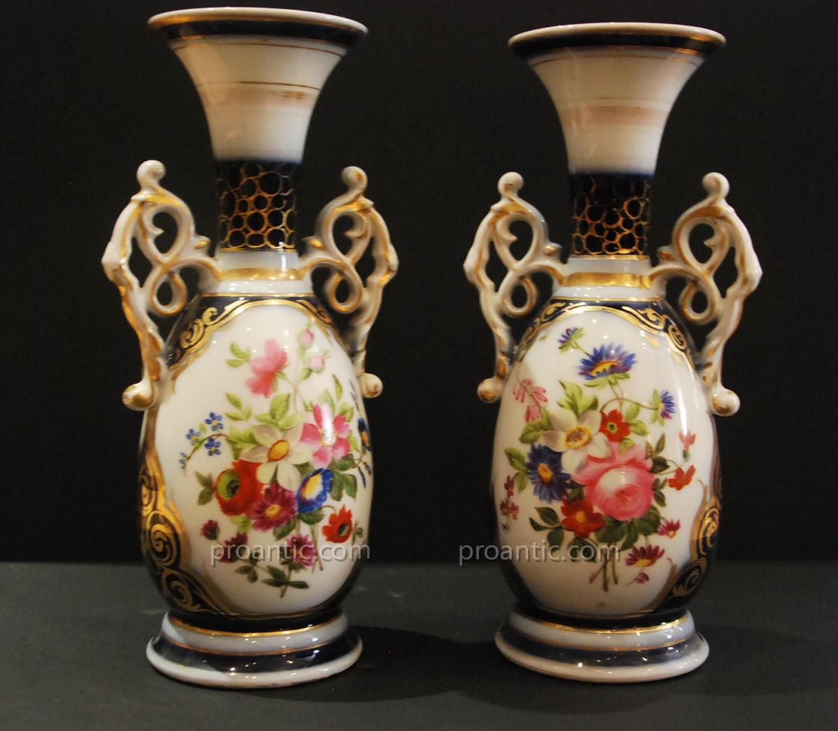"""pair Of Bayeux Porcelain Vases"