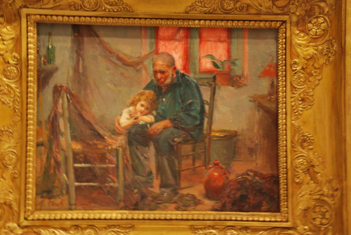 Le Grand Père Signé Michel Fronti