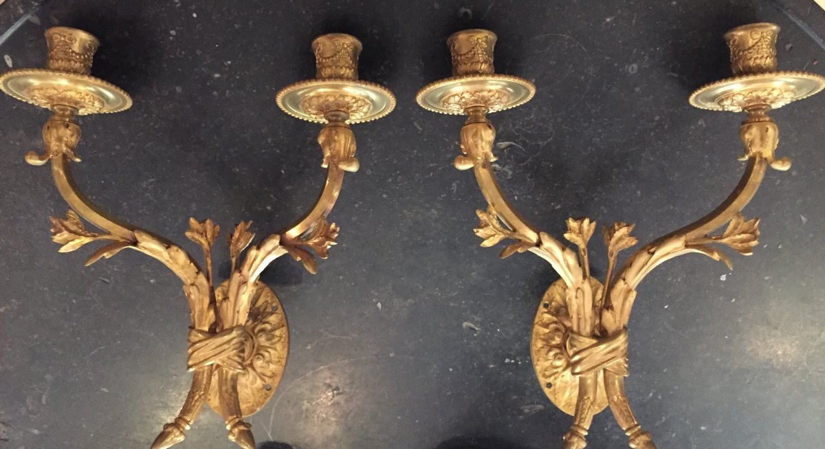 Pair Of Louis XVI Style Walls Late 19th