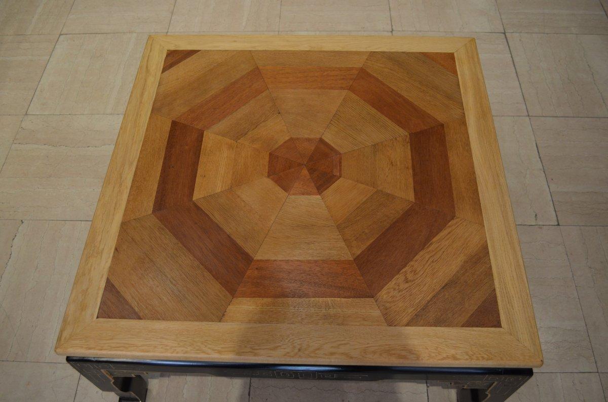 Table Basse Parquet Ancien-photo-2