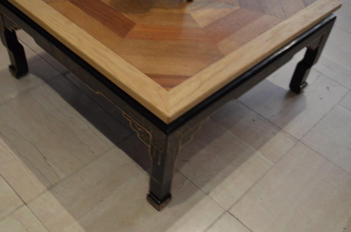 Table Basse Parquet Ancien-photo-1