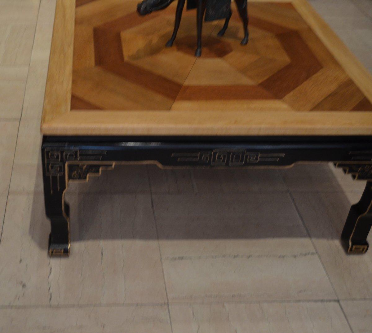 Table Basse Parquet Ancien-photo-3