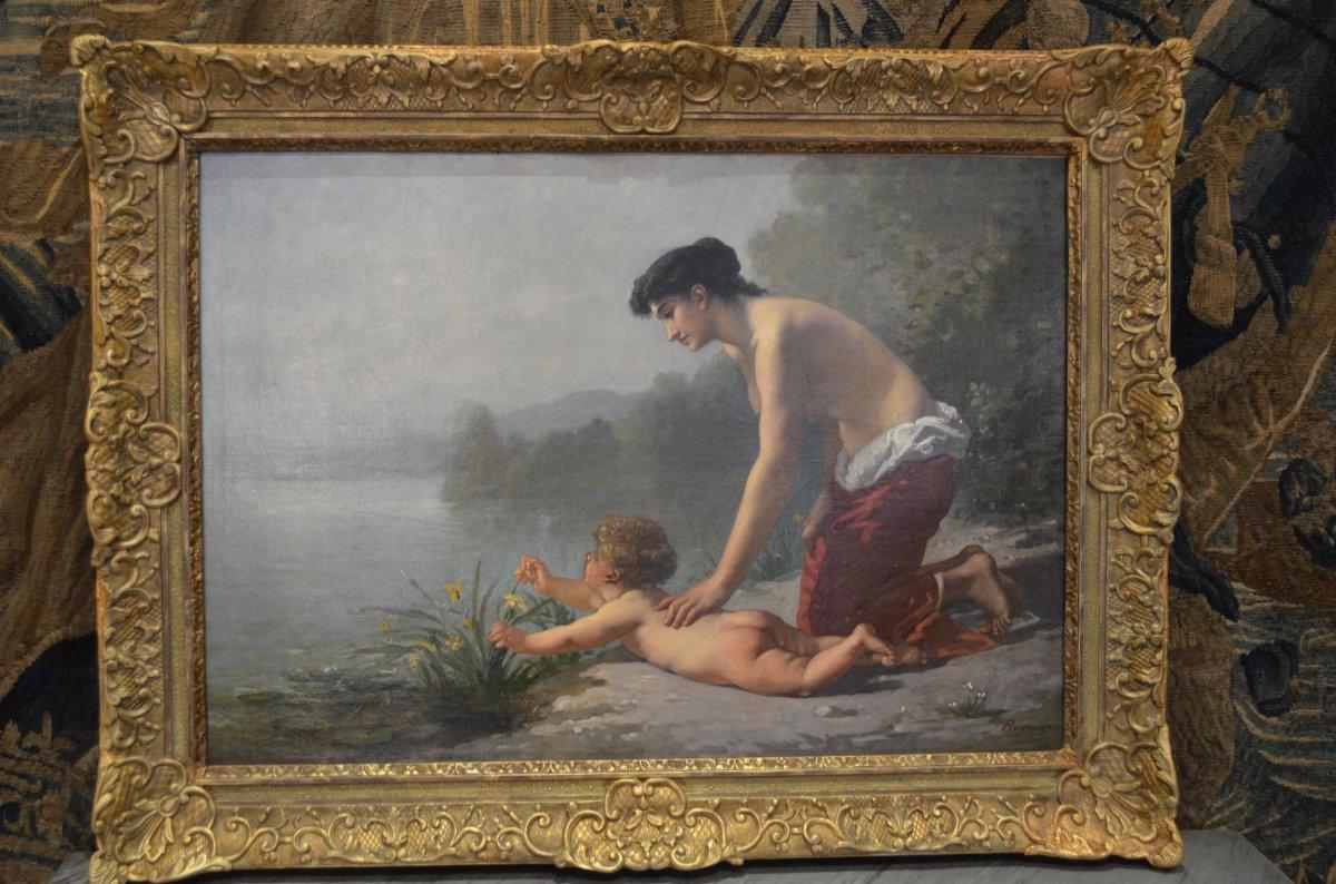 """romantic Painting Signed Antony Régnier"""