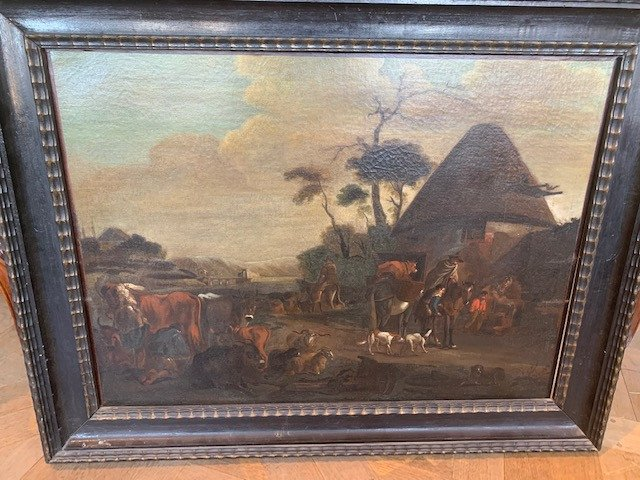 17th Table In The Style Of David Teniers