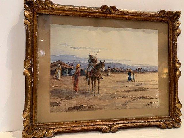 Watercolor Signed Marcel Bairat