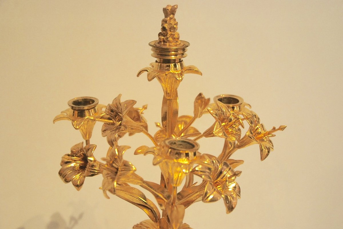 Pair Of Candelabra Late 19th-photo-4