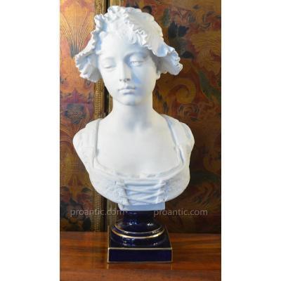 """""""buste De Femme En Biscuit De Limoges"""""""