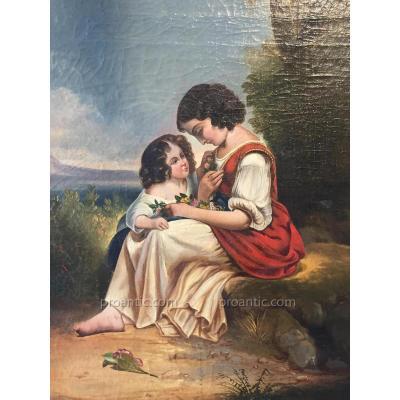 Tableau romantique 19ème