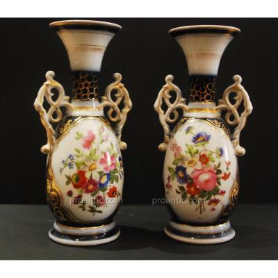 """pair Of Bayeux Porcelain Vases"
