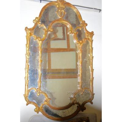 """""""miroir Attribué à La Maison Baguès"""""""