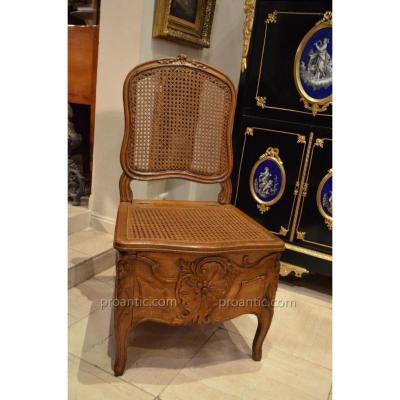 """""""chaise De Commodité d'époque Louis XV"""