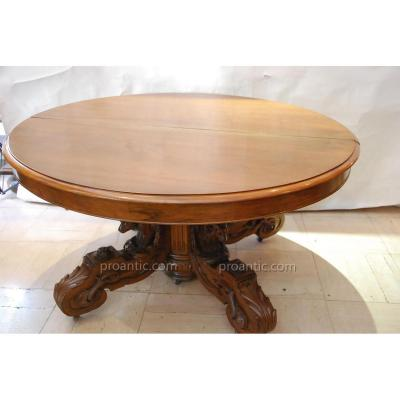 """""""table Guéridon à Têtes De Bouc 19ème"""""""""""""""