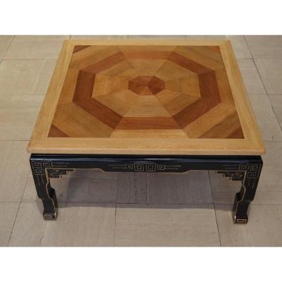 Table Basse Parquet Ancien