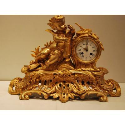 Pendule En Bronze d'époque Napoléon III