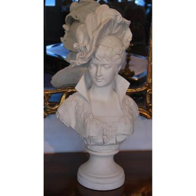 Buste d'Une Femme De Qualité Signé Duboy Paul