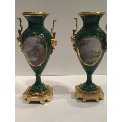 Pair Of 19th Sèvres Porcelain Vases