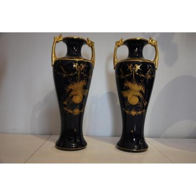 Pair Of Vases In The Taste Of Sèvres