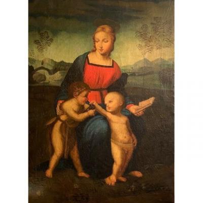 Vierge Aux  Enfants 19ème