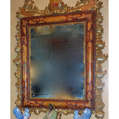 Italian Mirror With Chinese Decor 18th