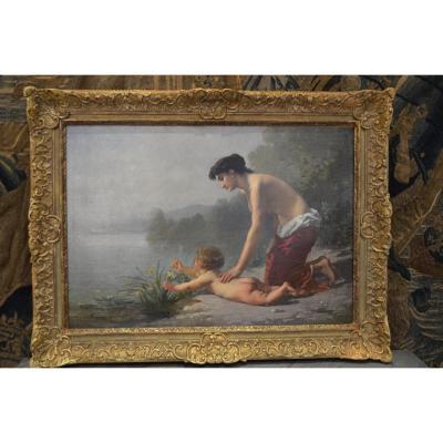 """""""tableau Romantique Signé Antony Régnier"""""""