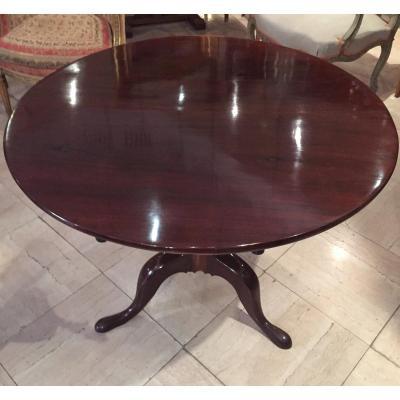 Mahogany Pedestal Table Late 18th