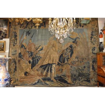 Tapisserie Flamande 17ème Représentant Cléopâtre