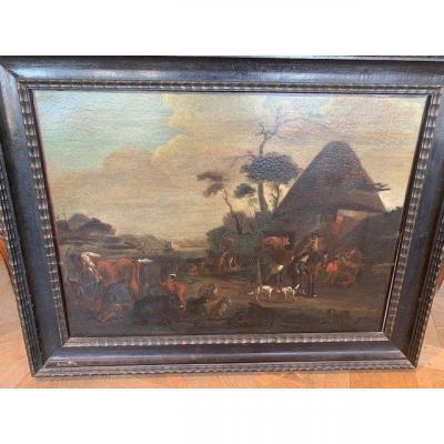 Tableau 17 ème dans le goût de David Teniers