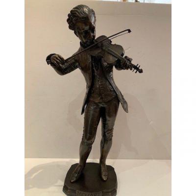 Bronze 19 ème Mozart Enfant