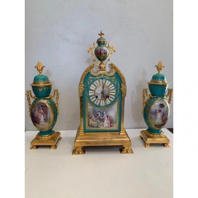19th Century Porcelain And Bronze Trim
