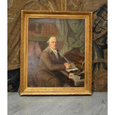 Gentleman In His Office Dated 1820