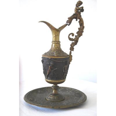 19th Century Ewer In Bronze Renaissance Style