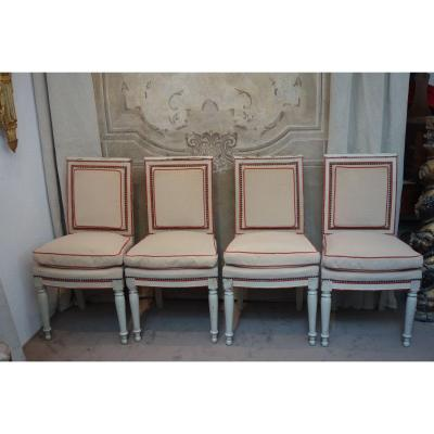 Series Of Four Chairs Of Directoire Period, Late Eighteenth