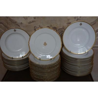 Part Of Service In White Porcelain With Gold Decor