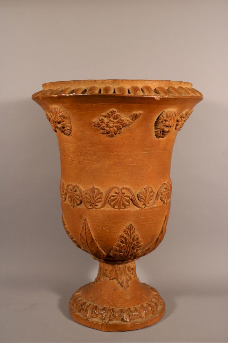 Vase Médicis En Terre Cuite, époque Louis XVI.