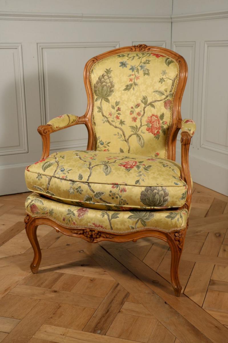 paire de coins de feu jean boucault milieu du xviiie fauteuils. Black Bedroom Furniture Sets. Home Design Ideas