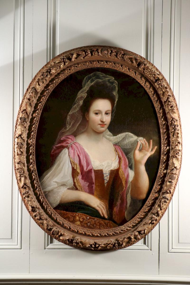 Portrait De Johanna Lourdet, Par Bon Boullogne