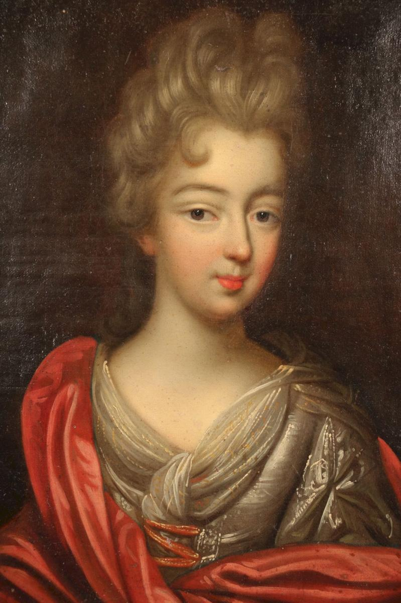 Portrait d'Une Jeune Noble, époque Louis XIV