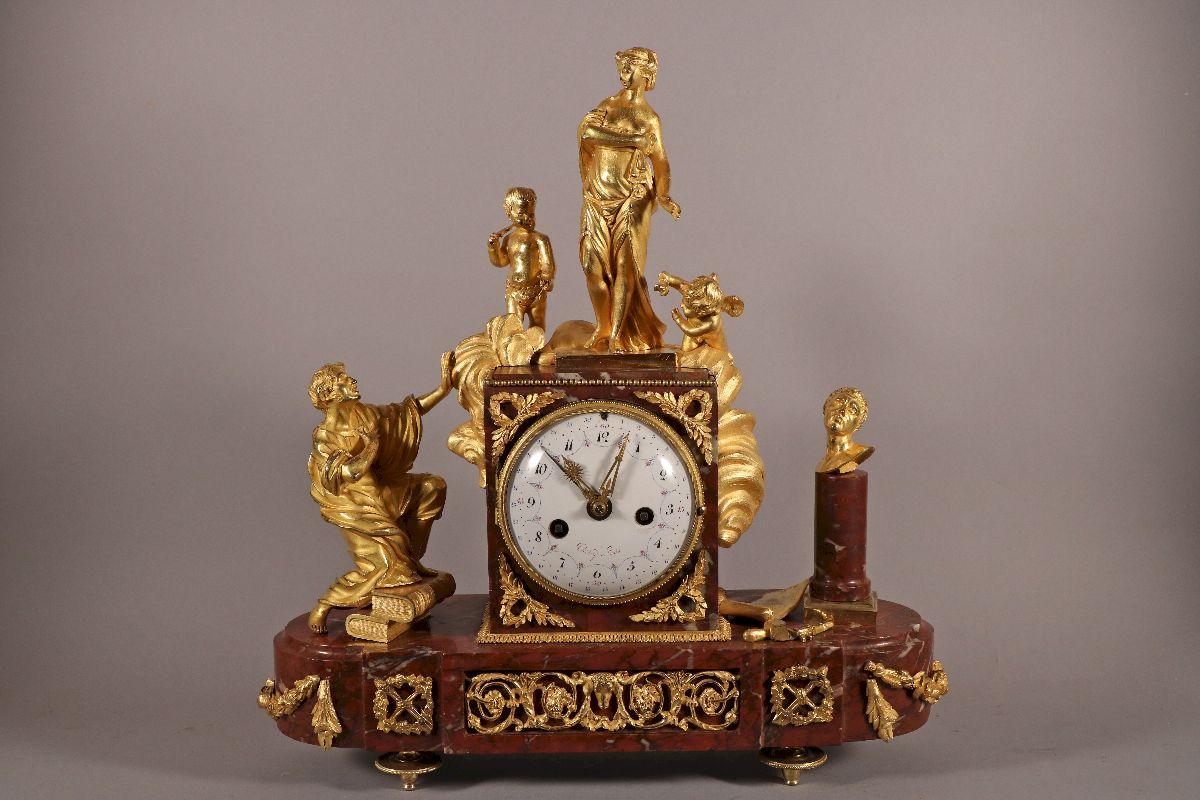 Pygmalion Et Galatée, Pendule d'époque Louis XVI De Thiéry à Paris