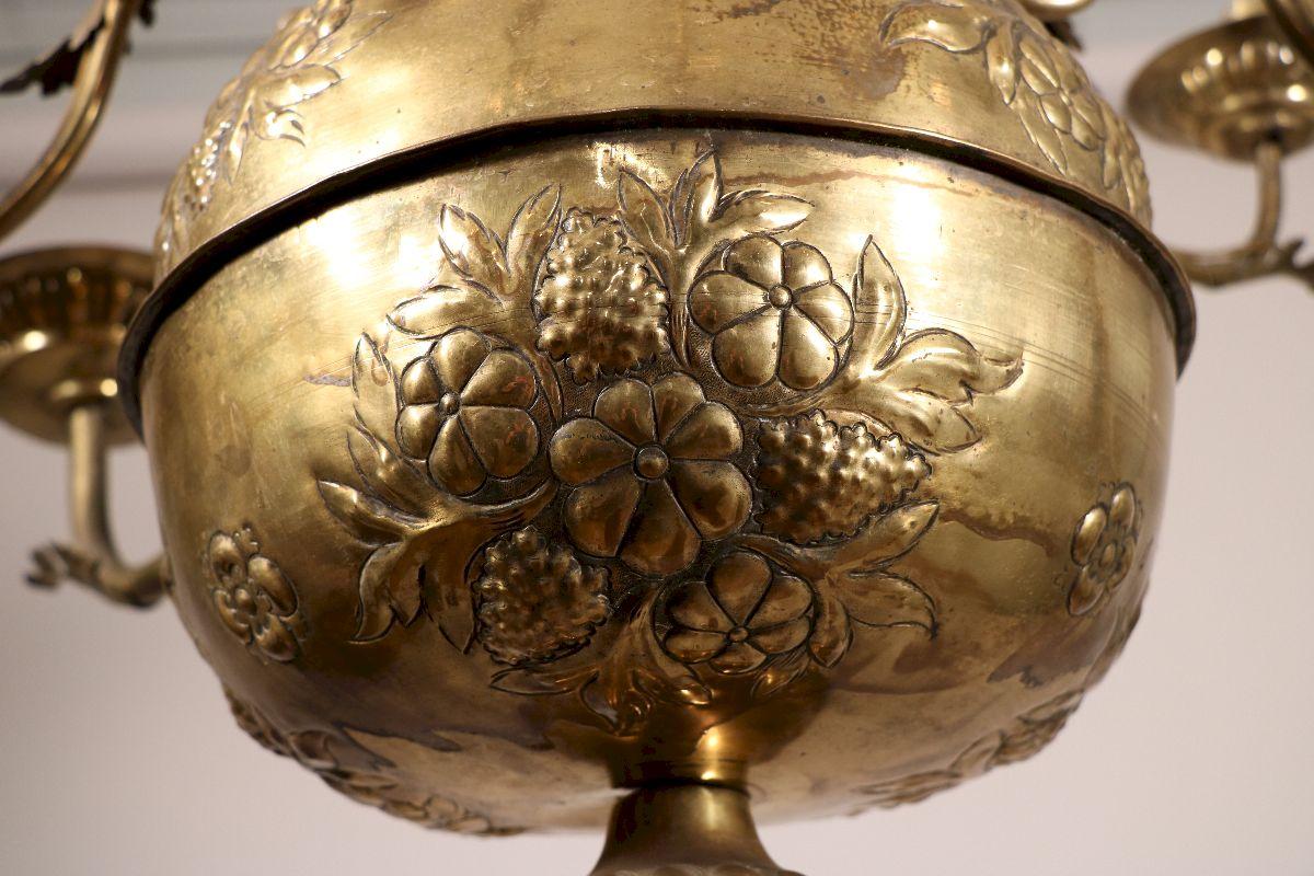 Lustre à Douze Bras Du XVIIe Siècle-photo-2