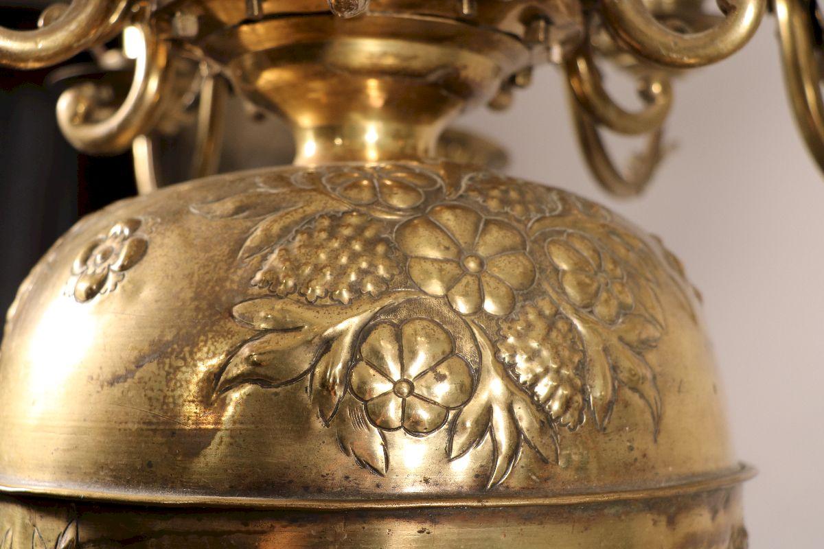 Lustre à Douze Bras Du XVIIe Siècle-photo-3