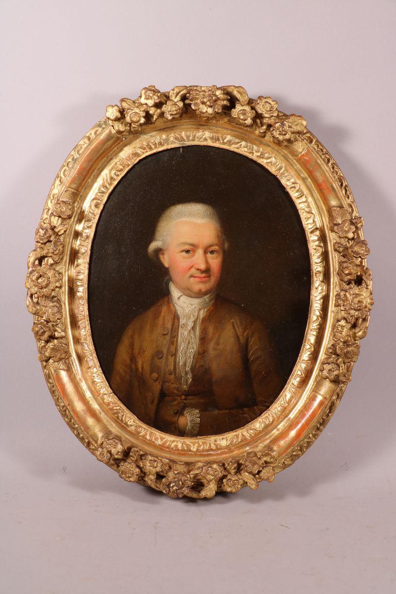 Paire De Portraits Sur Cuivre, époque Louis XV